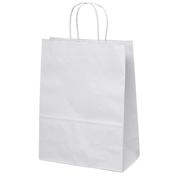 Jenny Shopper - White Kraft Paper Shopping Bag With Matching Twisted Paper Handles Photo