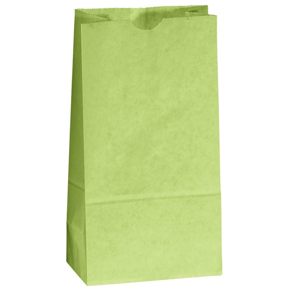 Colored Popcorn Bag With Serrated Cut Top, Side And Bottom Gussets; Unlined Photo