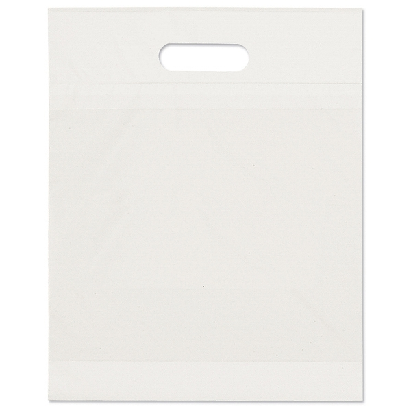 Eco - 2.5 Mil Plastic Bag With Fold Over Die Cut Handles, Recyclable Photo