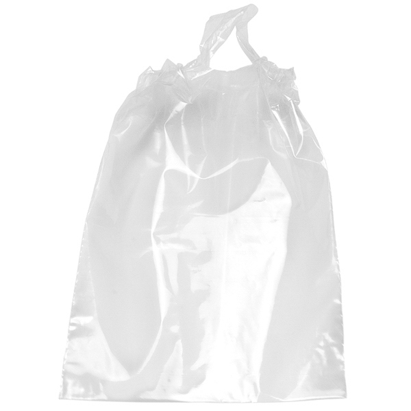 Plastic Draw Bag With Poly Draw Tape Closure And Bottom Gusset Photo