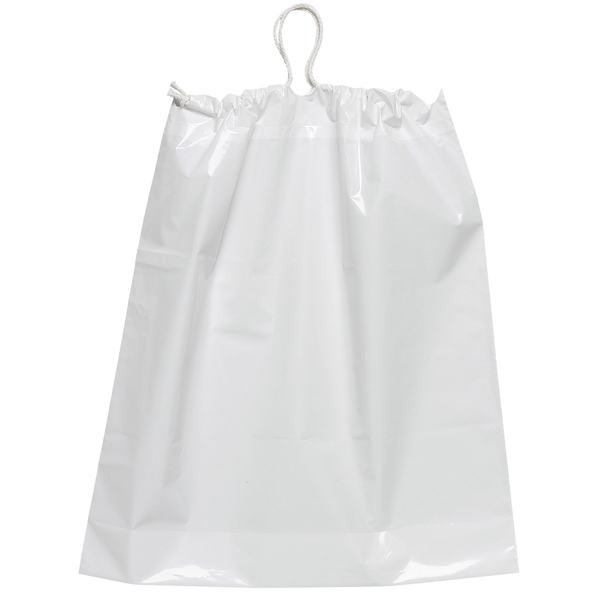 White Plastic Bag With Cotton Draw String Photo