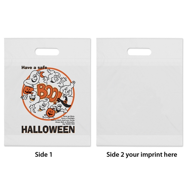 "Halloween Bag With Fold Over Die Cut Handles With ""boo"" Ghost Design Photo"