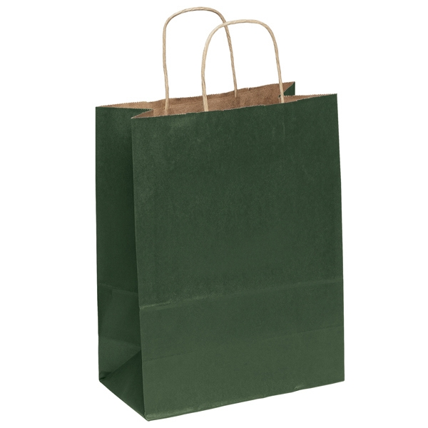 Dorothy Shopper - Matte Paper Shopping Bag With Twisted Kraft Paper Handles And Serrated Cut Top Photo