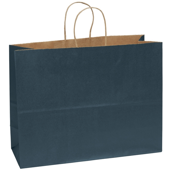 "Judy - Matte Finish Shopping Bag With Natural Kraft Color Interior. 16"" X 12"" Photo"