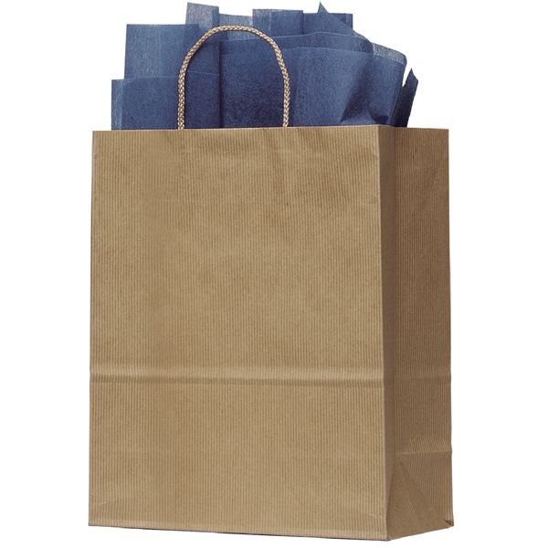 Uptown Manhattan Shopper - Kraft Paper Shopping Bag With Mirage Stripe Pattern Finish Photo