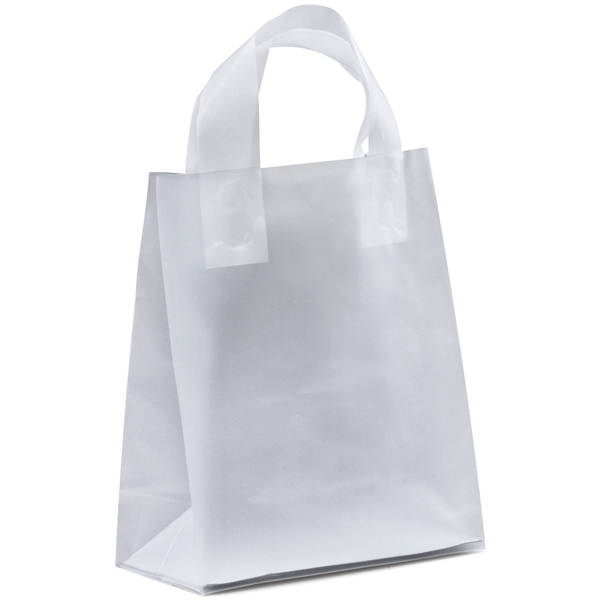 Beulah Frosted Shoppers - Hi-density Frosted Plastic Shopping Bag With Flexographic Ink Imprint Photo