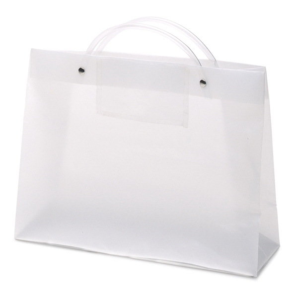 Executotes Pres - Hi-density Frosted Plastic Bag With A Clear Card Pocket On One Side Photo