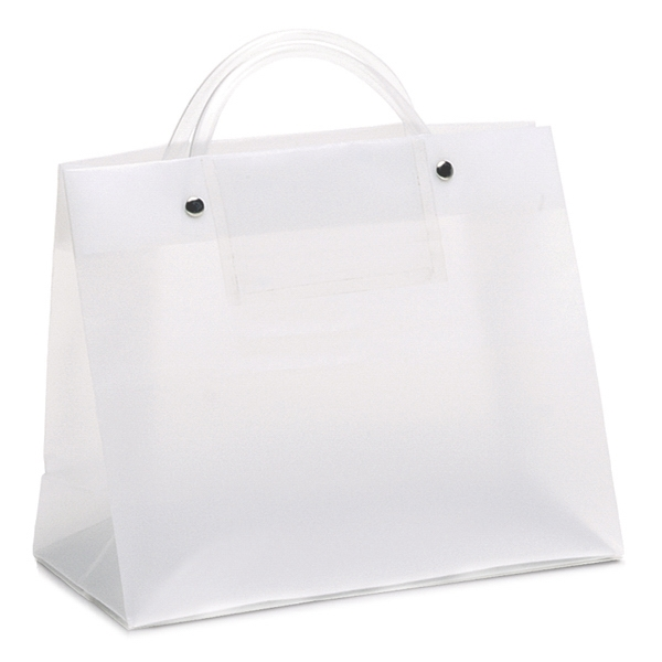 Executotes Vp - Hi-density Frosted Plastic Bag With A Clear Card Pocket On One Side Photo