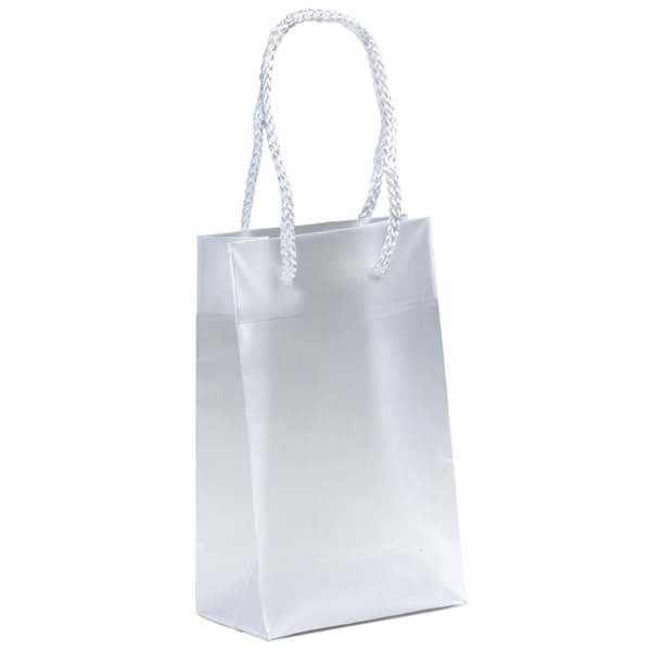 Aries - Hi-density Frosted Plastic Euro Tote Bag With Macrame' Handles Photo