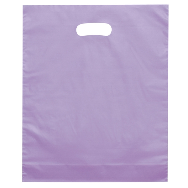 Orchid Brite - Hi-density Plastic Shopping Bag With Frosted Design And Die Cut Handles Photo
