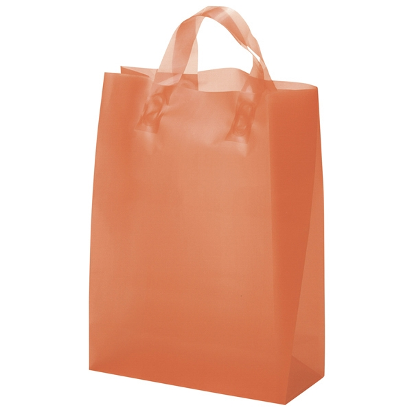 Zeus Brite Shoppers - Hi-density Frosted Brite Plastic Shopping Bag With Matching Loop Handles Photo