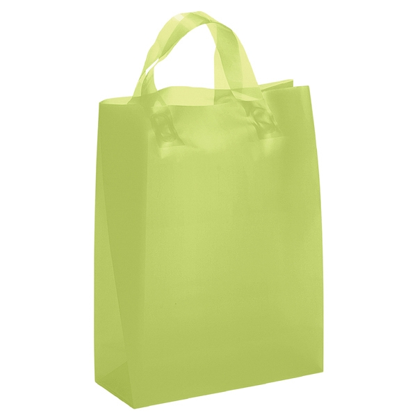 Lily Brite Shoppers - Frosted Color Plastic Bag With Matching Fused Loop Handles Photo