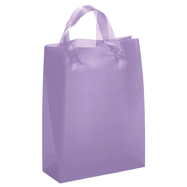 Apollo Brite Shoppers - Hi-density Frosted Brite Color Plastic Shopping Bag With Matching Loop Handles Photo