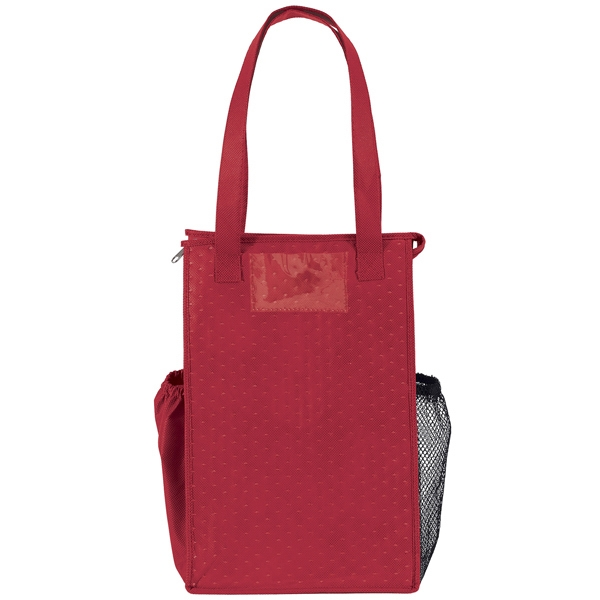 Super Snack (tm) Therm-o- - Insulated Large Bottle-style Tote With Zipper Closure, Handles, Bottom Insert & More Photo