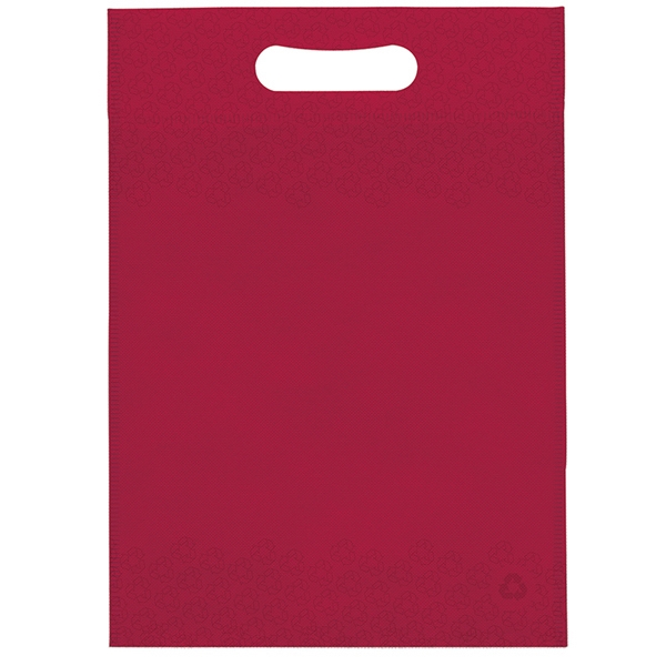 "10"" X 14"" - Non Woven Die Cut Handle Bag With Logo Imprinted On Both Sides Photo"