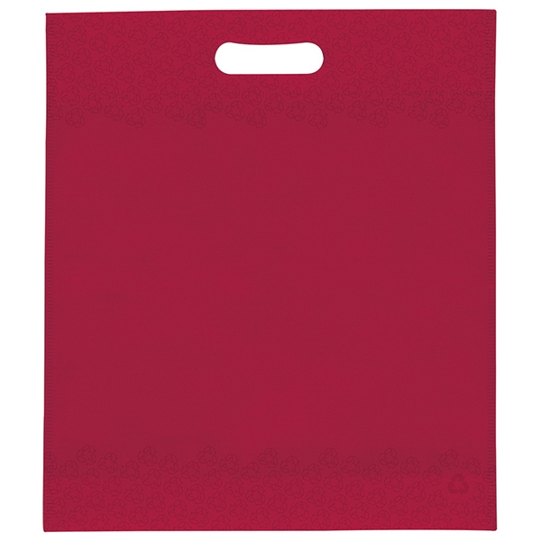 "13"" X 15"" X 3"" - Non Woven Die Cut Handle Bag With Logo Imprinted On Both Sides Photo"