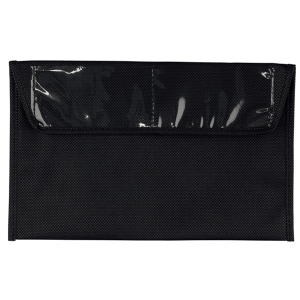 Black 80 Gsm Premium Non-woven Polypropylene Document Holder Photo
