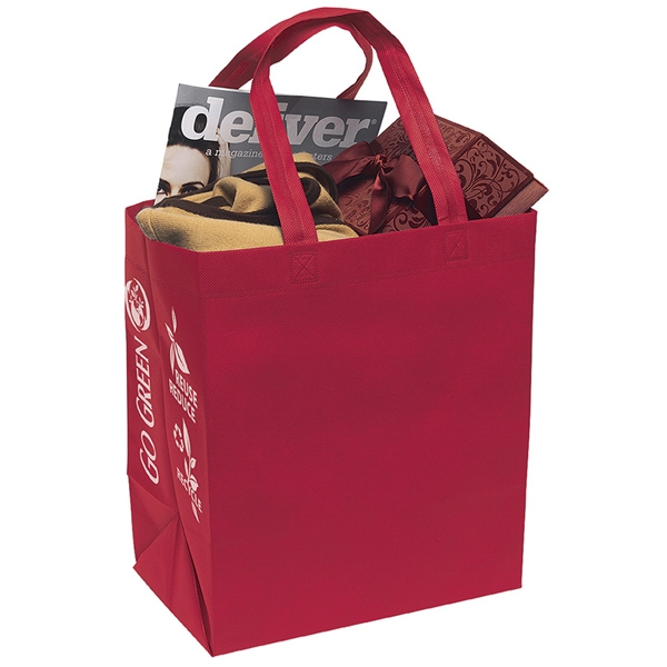 "Economy - Non-woven Polypropylene Tote With Reinforced 20"" Handles Photo"