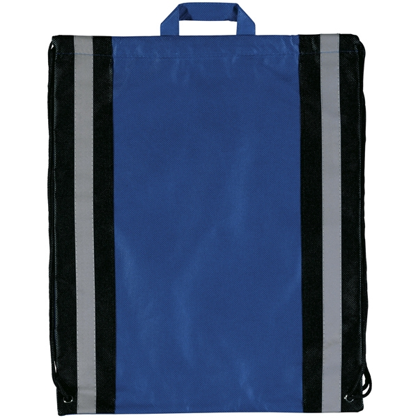 Magellan Explorer (tm) - Non-woven Polypropylene Backpack With Reflective Stripes And Carrying Handles Photo