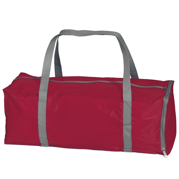 Fold-away Duffel - Duffel Bag That Collapses Into Zippered Gusset Pocket On One End Photo