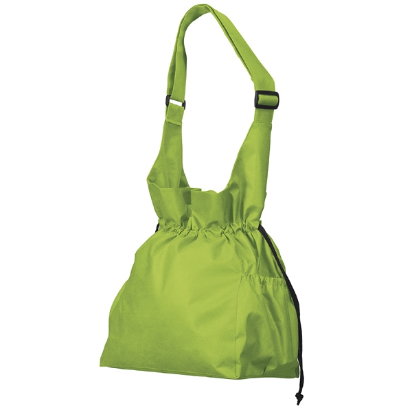 Cinch Tote - Polypropylene Tote With Die Cut Carrying Handles, Strap, Draw Cord And More Photo