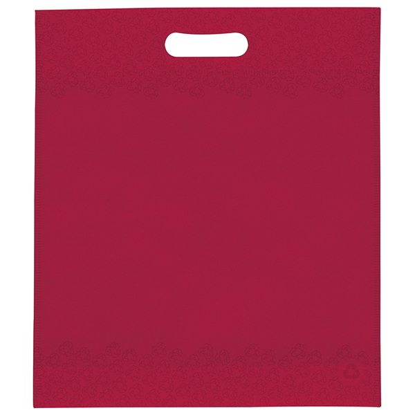 "13"" X 15"" X 3"" - Non Woven Die Cut Handle Bag With Colorvista Imprint Photo"