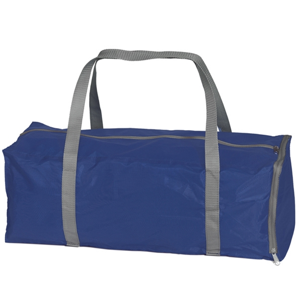 Fold-away Duffel - Polyester Duffel Bag That Collapses Into Zippered Gusset Pocket On One End Photo
