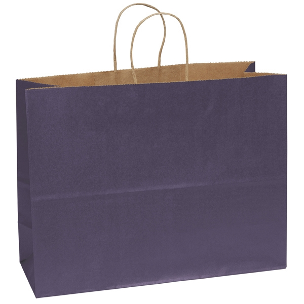 Judy Shopper - Matte Paper Shopping Bag With Serrated Cut Top And Twisted Kraft Paper Handles Photo
