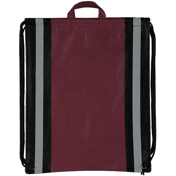 "Magellan Explorer (tm) - Non Woven Polypropylene String Backpack With 1"" Reflective Stripes Photo"