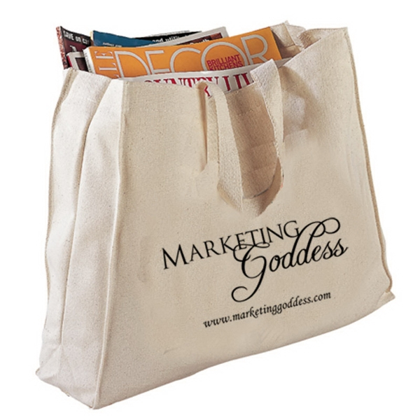 Basic Cotton Canvas Tote Bag With Gussets Photo