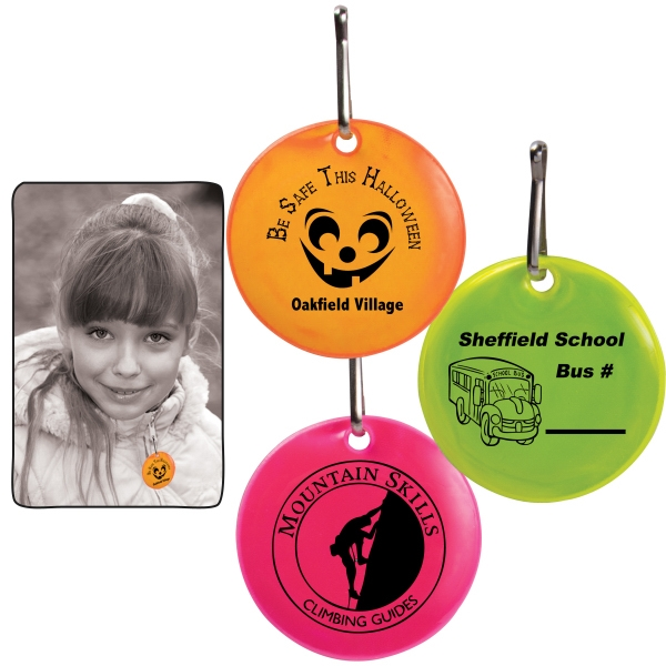 Round Reflective Zipper Pulls Photo
