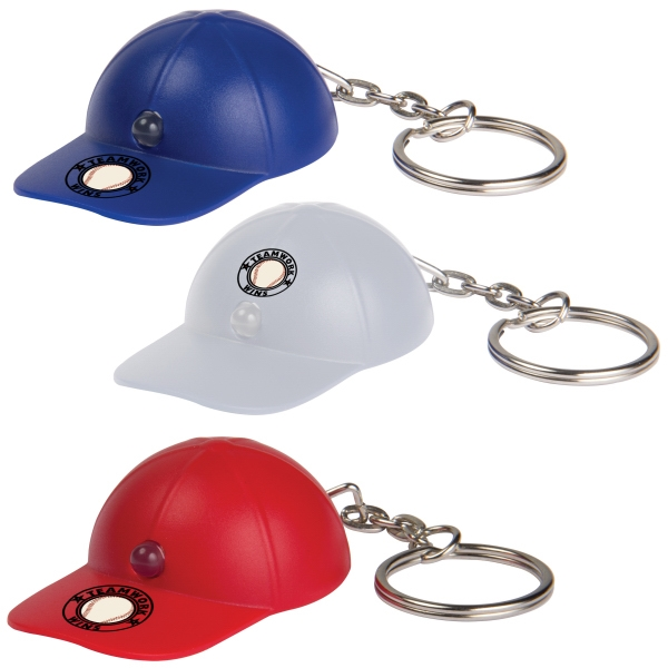 Light Up Baseball Hat Key Tag Photo