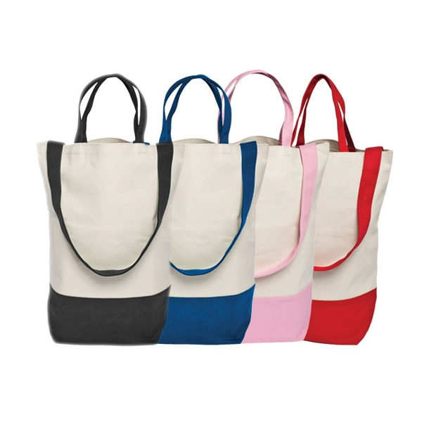 "Canvas Tote With 15"" Handle And Open Compartment Photo"