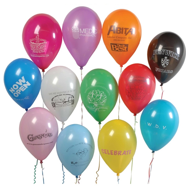 9 Inch Imprinted Balloon