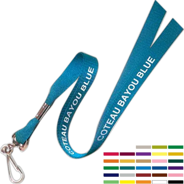 "Original Design Smooth Woven Polyester 5/8"" Lanyard, Made In Usa Photo"