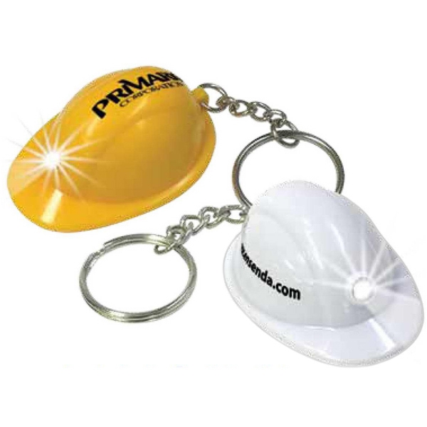 Brite Lights (tm) - Molded Key Light With Mini Hard Hat Shape. Features 1 Led Bulb Photo