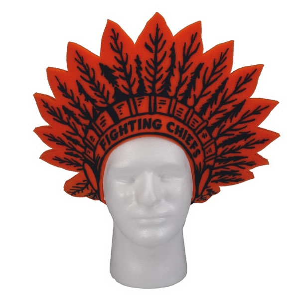 "15"" Indian Headdress Foam Visors Photo"