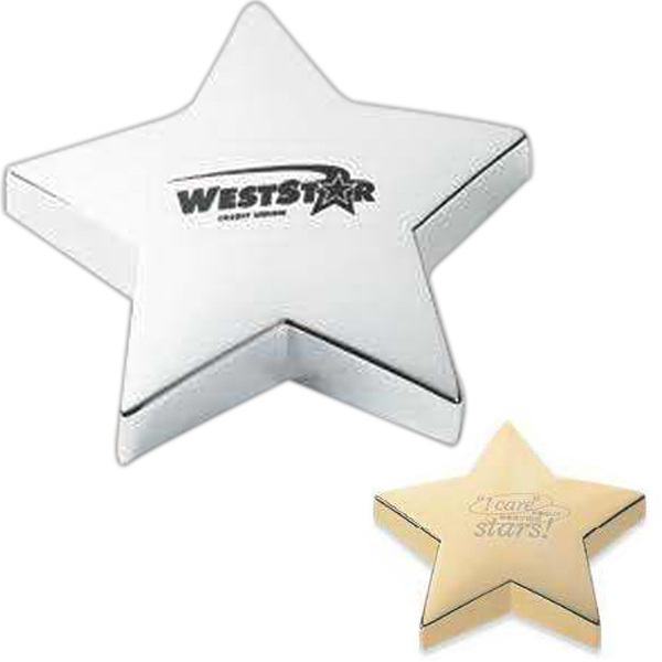 Pinemax - Silver - Shining Star Silver/gold Paper Weight Photo