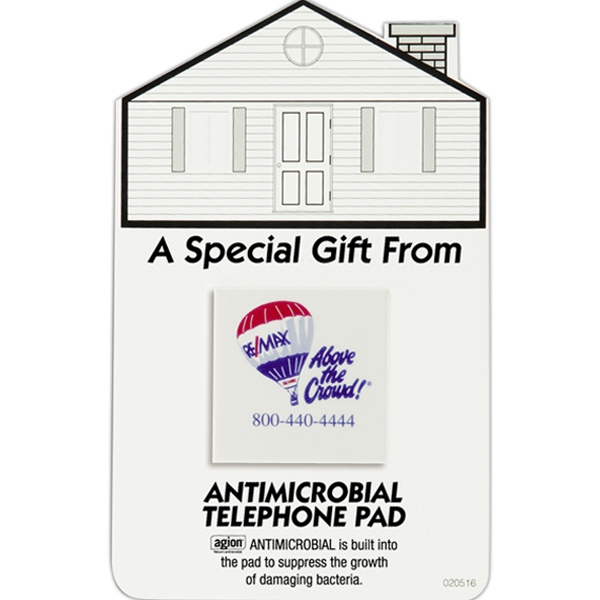 Safe Ad (tm) - House Shape Telephone Pad With Antimicrobial Protection Photo