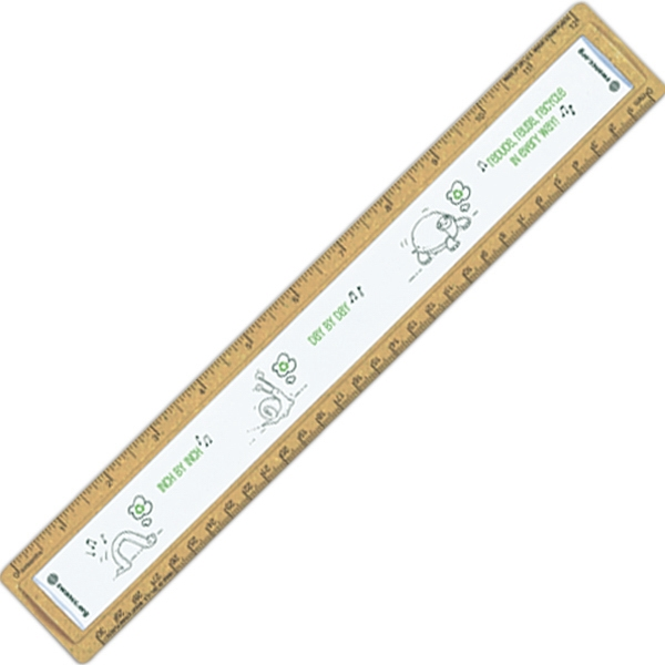 "Bioad(tm) Quickview - Wheat Straw 12"" Ruler. Base Of Ruler Contains Approx 20% Wheat Straw Photo"