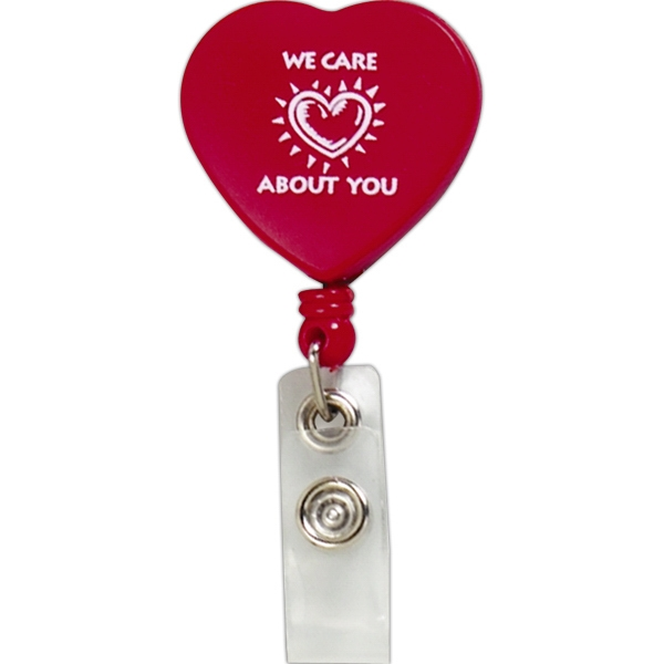 Heart Retractable Badge Holder Photo