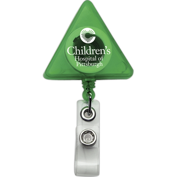 Triangle Retractable Badge Holder Photo