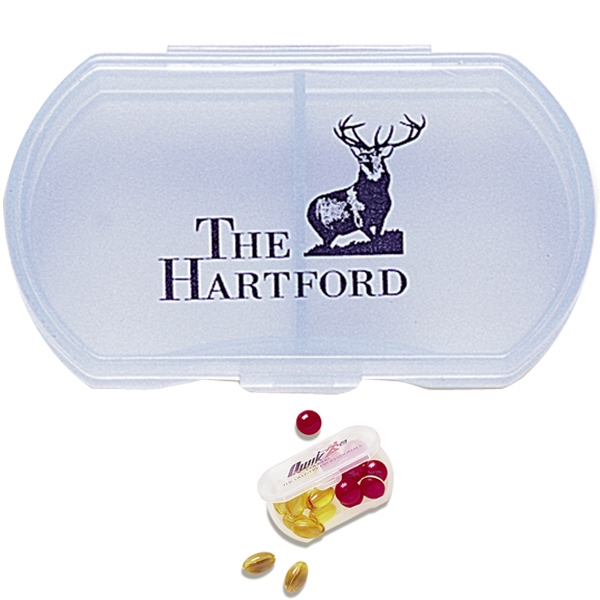 Double Dose Pill Box With Dual Compartments Photo