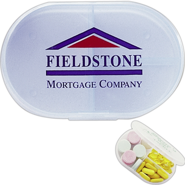 Select-all - Frosted Multi-purpose Pill Box With 3 Compartments Photo