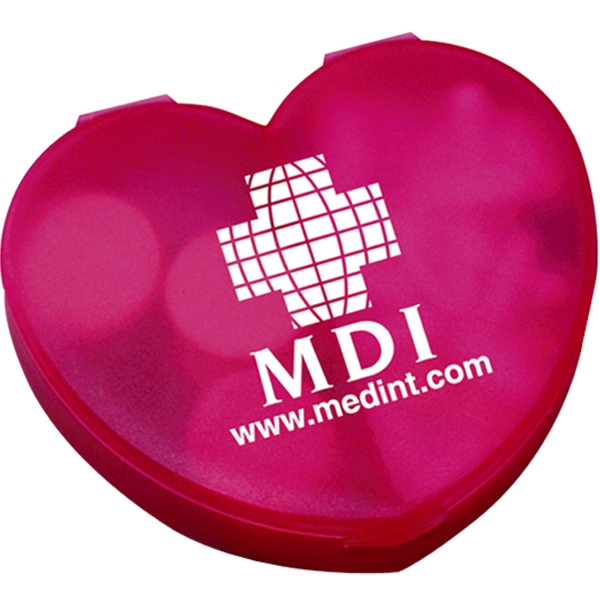 Heart Shaped Pill Box With Dual Compartments Photo