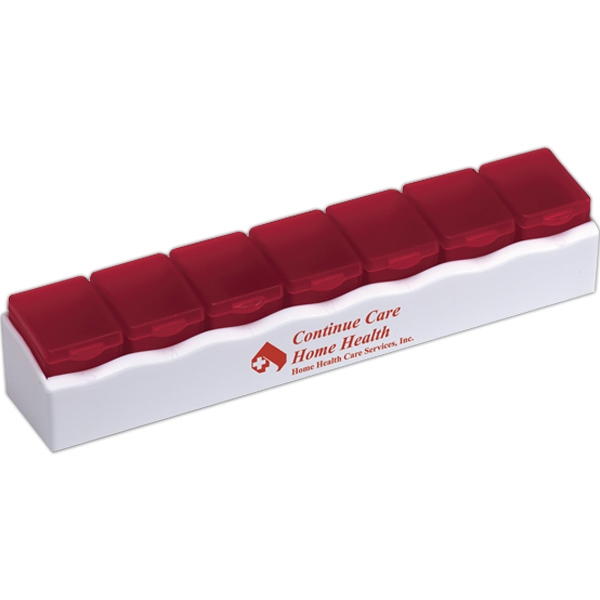 Pill Center - Deluxe 7 Day Pill Box With White Base Photo