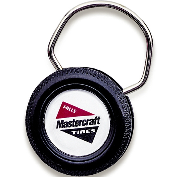 Big Wheel Showring - Black Tire Shape Snap Lock Key Tag Photo