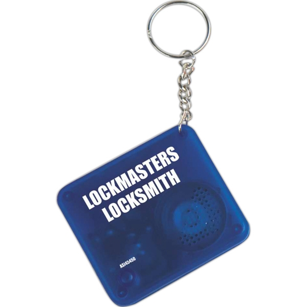 The Original - Blue - The Key Chain That Talks Back With Your Custom Sound Message Photo