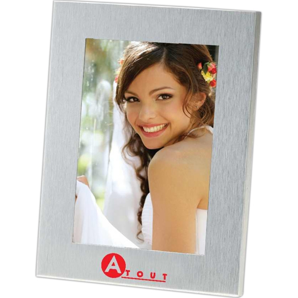 Lecce - 4 X 6 Brushed Metal Photo Frame. Stands Vertically Or Horizontally Photo