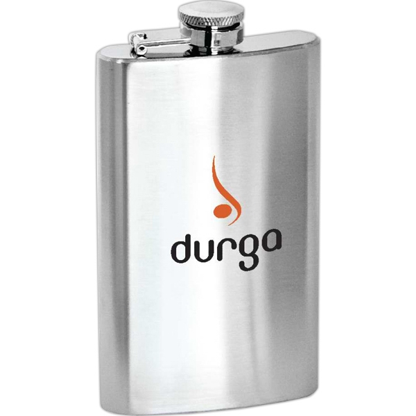 Lincoln - 5 Oz Stainless Steel Flask With Hinged Cap Photo